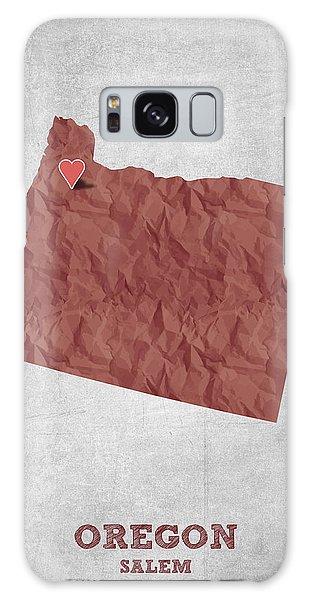 I Love Salem Oregon- Red Galaxy Case