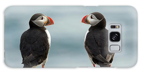 Puffin Galaxy S8 Case - I Love You - I Love You Too by Milan Zygmunt