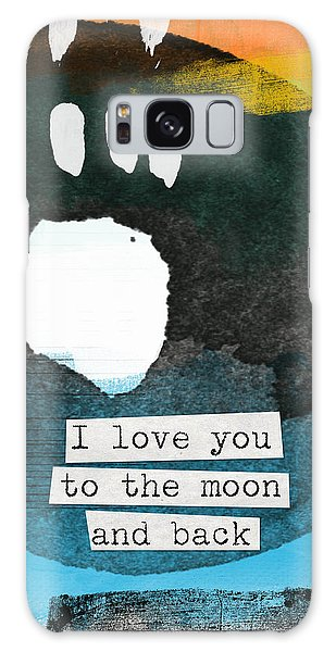 Moon Galaxy Case - I Love You To The Moon And Back- Abstract Art by Linda Woods