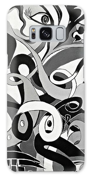 Black And White Acrylic Painting Original Abstract Artwork Eye Art  Galaxy Case