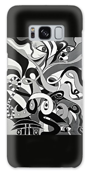 I Seek U - Abstract Eye Paintings, Black And White Eye Art - Ai P. Nilson Galaxy Case