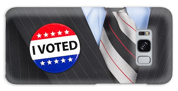 I Voted Pin On Lapel Galaxy Case