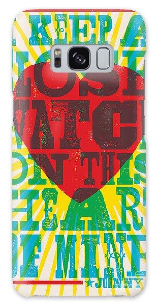 I Walk The Line - Johnny Cash Lyric Poster Galaxy Case
