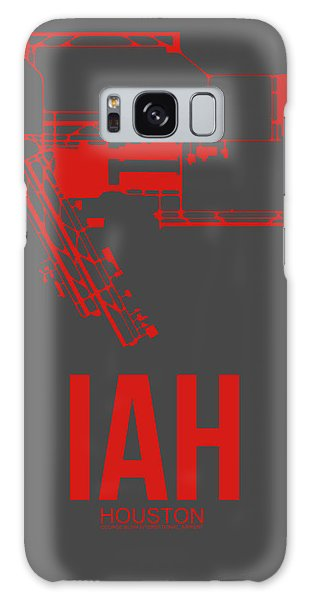Airport Galaxy Case - Iah Houston Airport Poster 1 by Naxart Studio