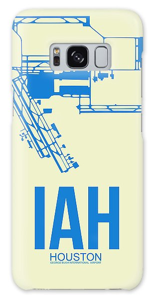 Airport Galaxy Case - Iah Houston Airport Poster 3 by Naxart Studio
