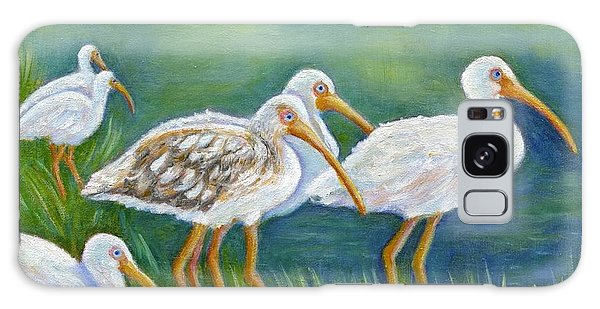 Ibis Flock With Juvenile Galaxy Case by Jeanne Kay Juhos