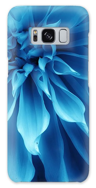 Ice Blue Dahlia Galaxy Case