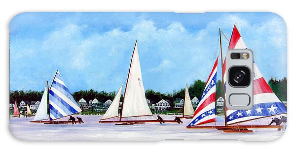 Winter Sails On The Navesink River Red Bank Galaxy Case