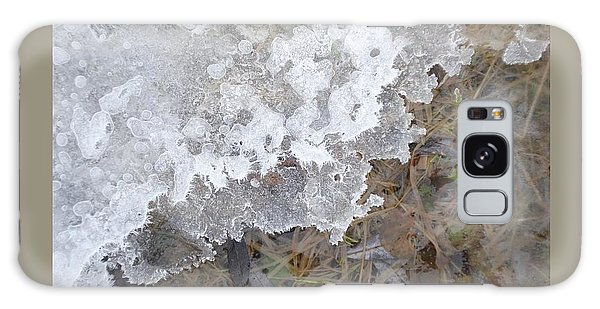 Ice Edges-iv Galaxy Case by Patricia Overmoyer