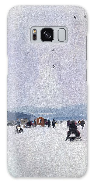 Ice Fishing And Snowmobiles  Galaxy Case