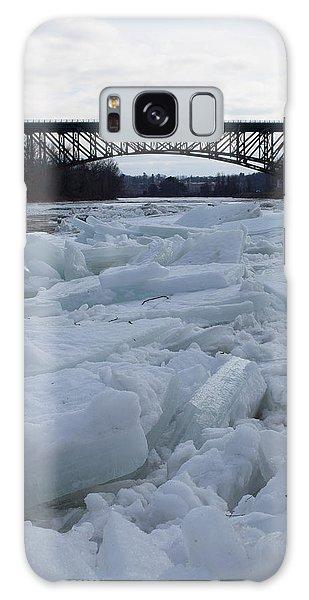 Ice Jam I-91 Bridge Brattleboro Vt Galaxy Case