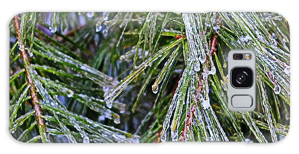 Ice On Pine Needles  Galaxy Case