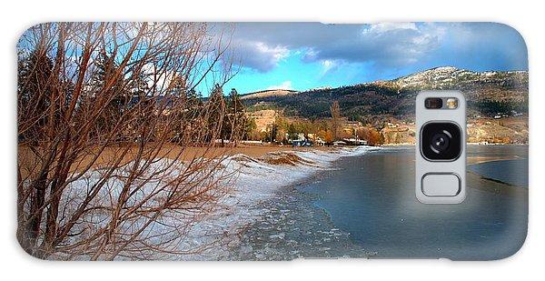 Ice Piles2 On Skaha Lake Penticton 02-19-2014 Galaxy Case