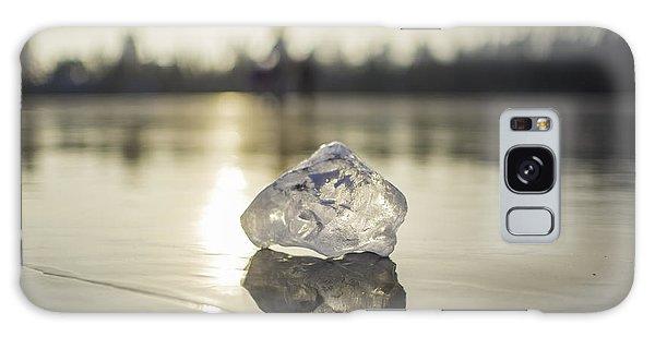 Ice Puck On Little Rock Lake Galaxy Case