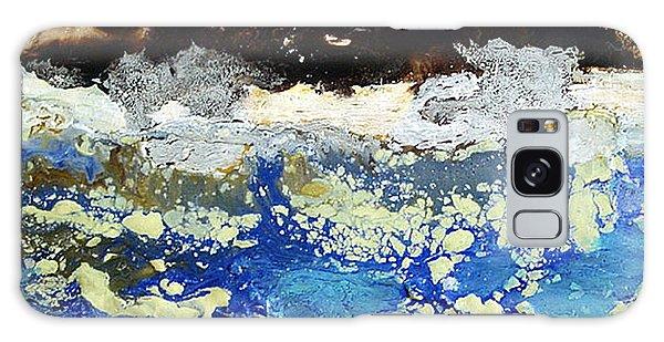 Ice Water Frozen Trees Galaxy Case by Carolyn Goodridge