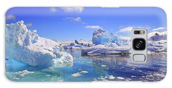 Cold Day Galaxy Case - Icebergs And Ice Flows by Miva Stock