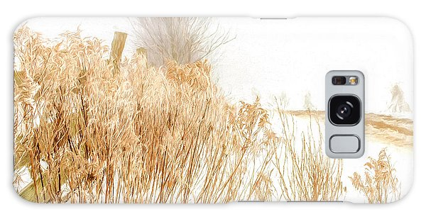 Iced Goldenrod At Fields Edge - Artistic Galaxy Case