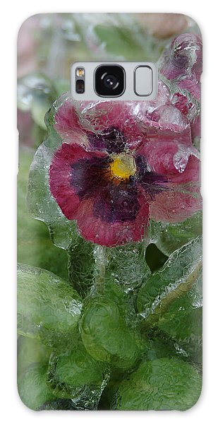 Iced Purple Pansy Galaxy Case