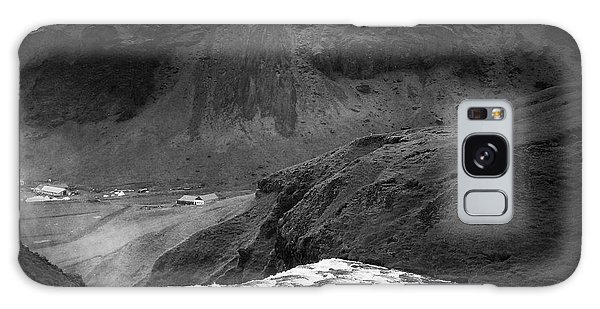 Landscapes Galaxy Case - Iceland Black And White Square Format by Matthias Hauser