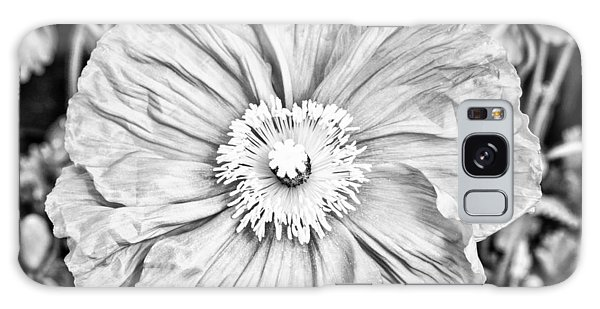Galaxy Case featuring the photograph Iceland Poppy In Black And White by Priya Ghose
