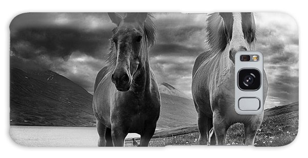 Icelandic Horses Galaxy Case by Frodi Brinks