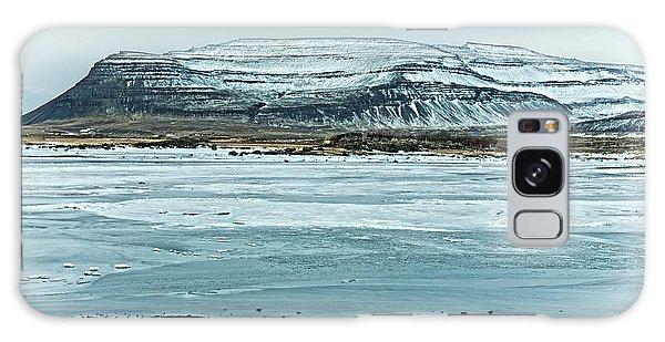 Icelandic Winter Landscape Galaxy Case by Mike Santis