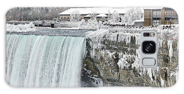 Icicles Over The Falls Galaxy Case