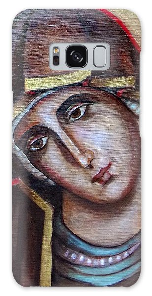 Icon Of Virgin Mary Galaxy Case