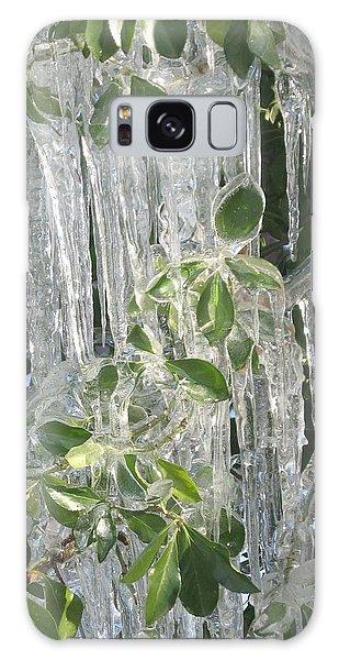 Icy Green Galaxy Case