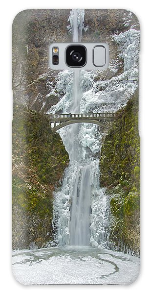 Icy Multnomah Falls 120713a Galaxy Case
