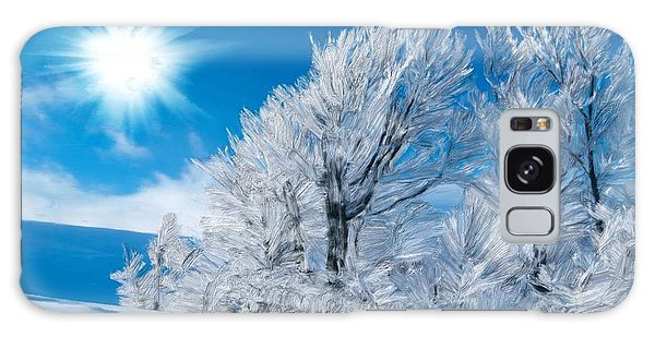 Icy Trees Galaxy Case