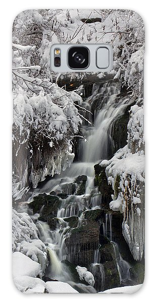Icy Waterfalls Galaxy Case