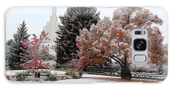 Idaho Falls Temple Winter Galaxy Case