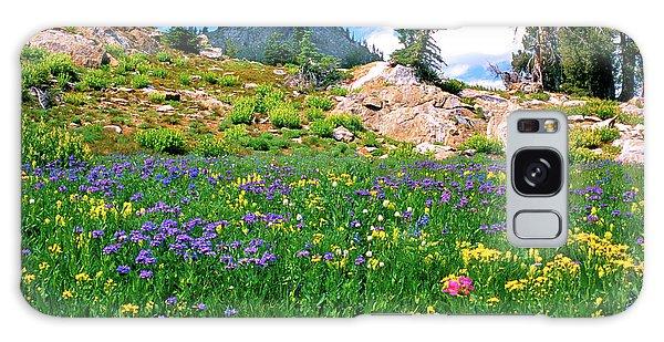 Idaho Mountain Wildflowers Galaxy Case