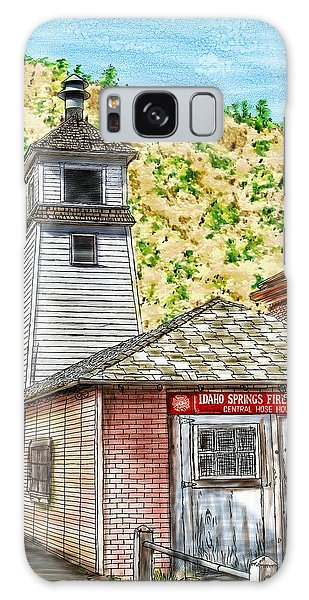 Idaho Springs Firehouse Galaxy Case by Ric Darrell