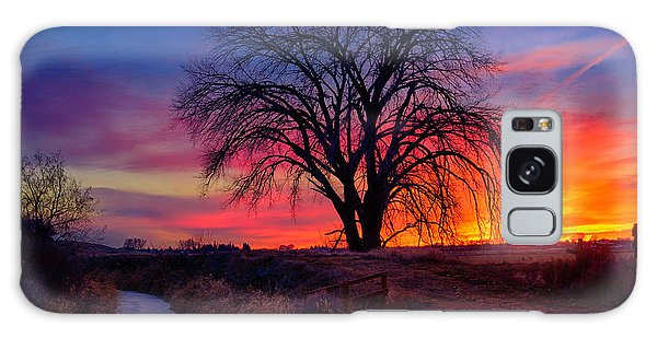 Idaho Winter Sunset Galaxy Case by Greg Norrell