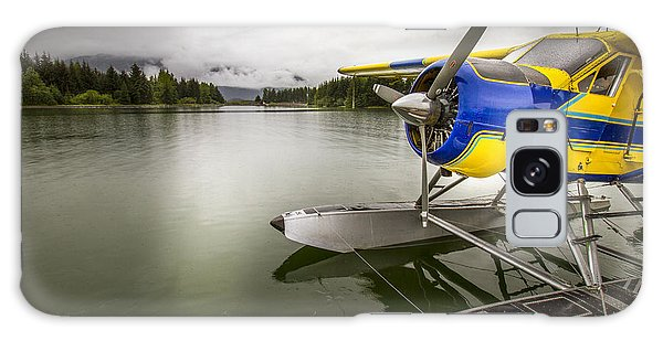 Idle Float Plane At Juneau Airport Galaxy Case by Darcy Michaelchuk