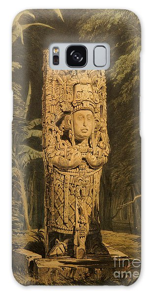 Idol At Copan By Frederick Catherwood Galaxy Case