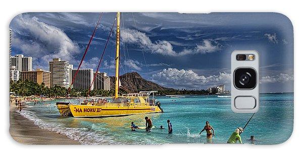 Idyllic Waikiki Beach Galaxy Case