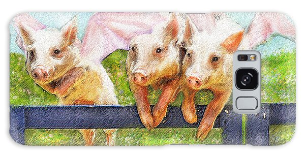 If Pigs Could Fly Galaxy Case by Jane Schnetlage