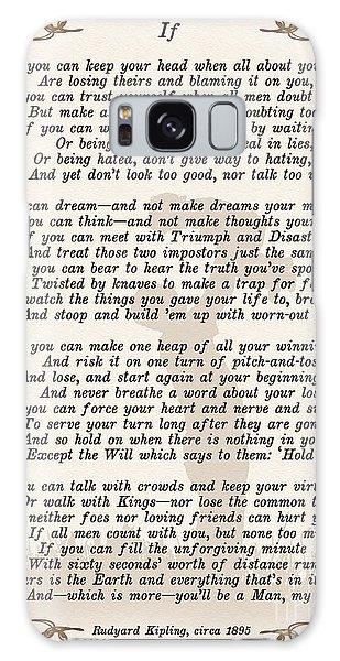If Poem By Rudyard Kipling Galaxy Case