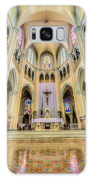 Iglesia De San Isidro De Coronado In Costa Rica Vertical Galaxy Case by Andres Leon