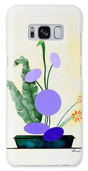 Ikebana #2 Green Pot Galaxy Case by Thomas Gronowski