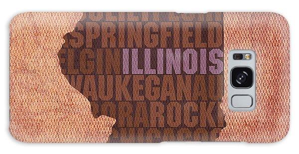 Illinois State Word Art On Canvas Galaxy Case