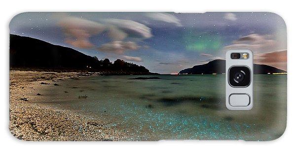 Illuminated Beach Galaxy Case