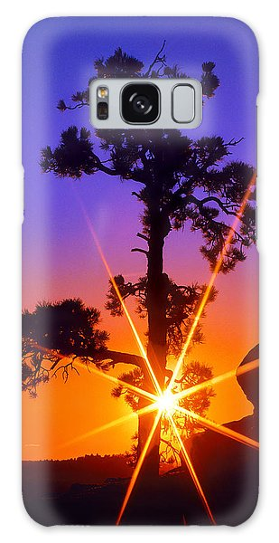 Illuminated Needles  Galaxy Case by Bijan Pirnia