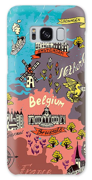 National Monument Galaxy Case - Illustrated Map Of The Netherlands by Daria i