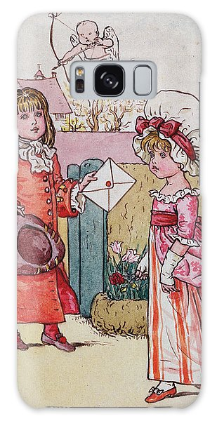Flowerbed Galaxy Case - Illustration For Saint Valentines Day  by Kate Greenaway