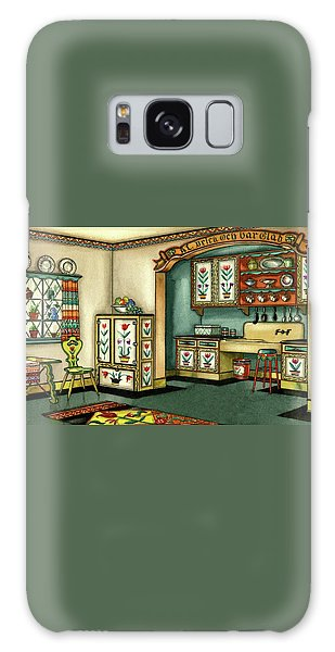 Illustration Of A Colorful Swedish Kitchen Galaxy Case
