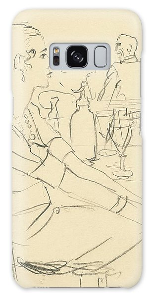 Illustration Of A Woman Sitting Down Galaxy S8 Case